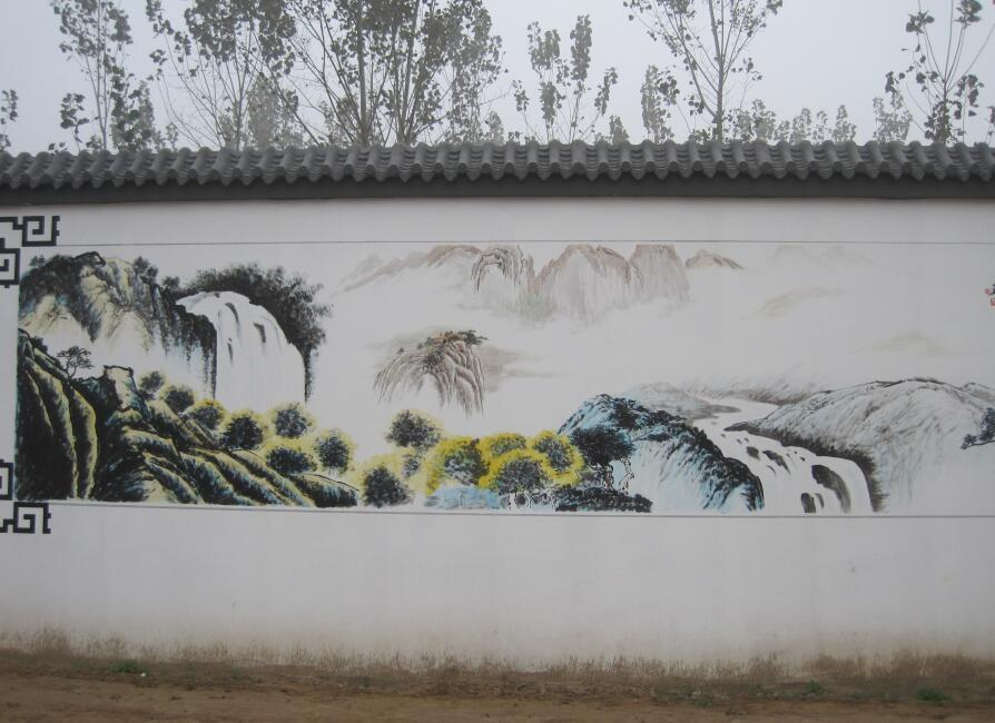 吉安外墙彩绘|餐厅墙绘施工方案