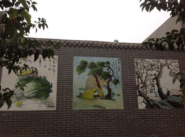 威信街道围墙彩绘|墙上画画多少钱一平方