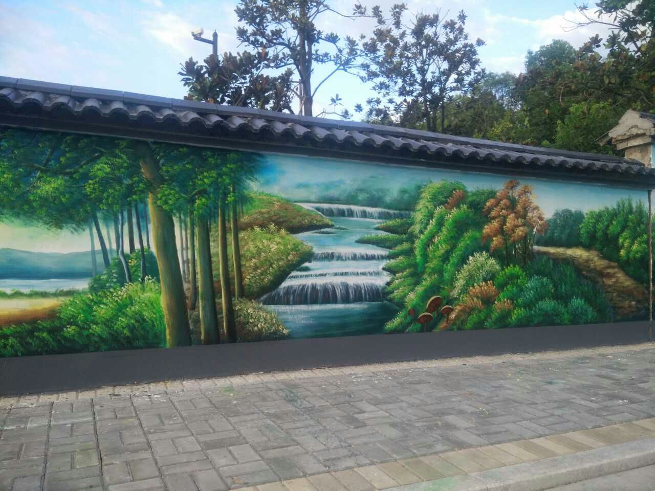 南阳新农村墙面彩绘的工作室