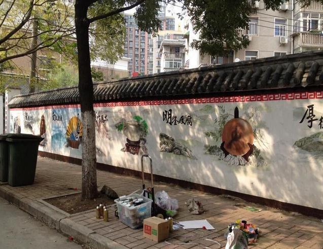 盂县学校墙体彩绘的公司盂县