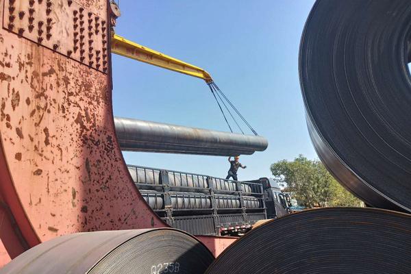 新余市20钢螺旋缝钢管制管厂