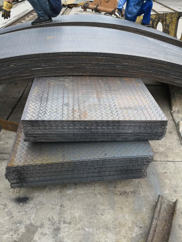 郑州Q235B花纹板折弯定尺切割加工