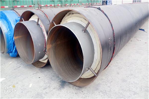 齐齐哈尔碾子山钢套钢玻璃棉隔热蒸汽保温螺旋管每米价格