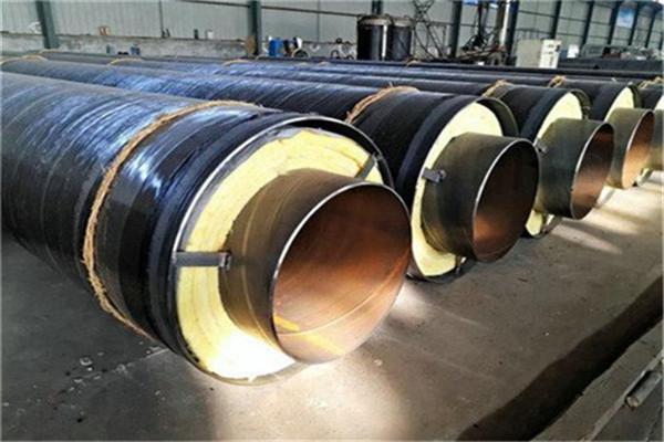 凌源热网输水用岩棉钢套钢保温螺旋焊管厂家直销