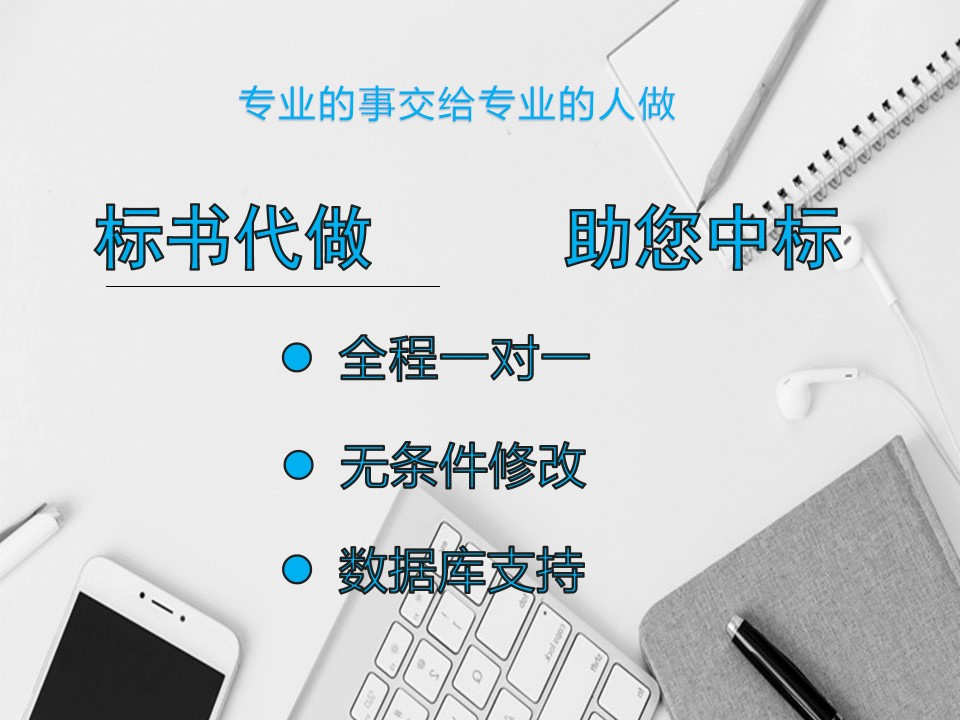 闽清县正规做标书的公司一站式服务