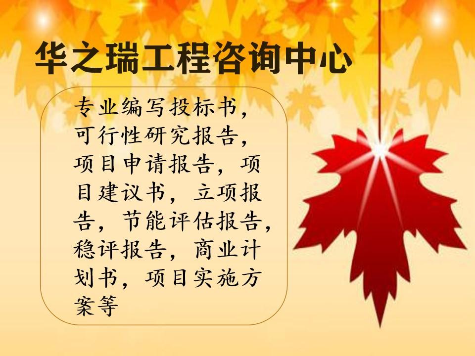 濮阳县项目可行性研究报告写可研报告
