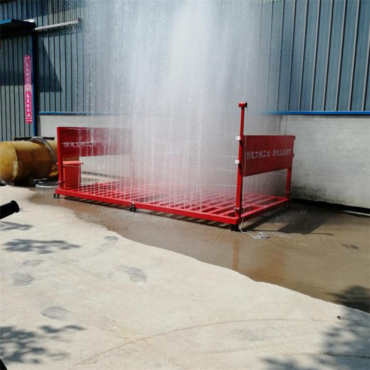 (对比)湖南醴陵工地150吨洗车台