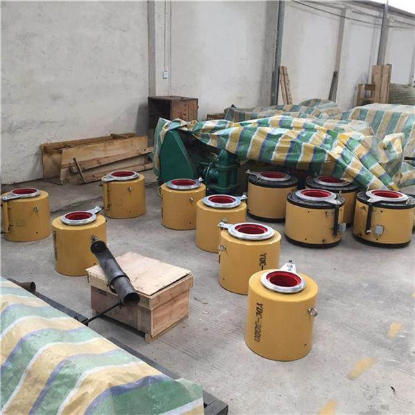 浙江台州 预应力前卡式千斤顶穿心式千斤顶张拉柱塞泵油泵