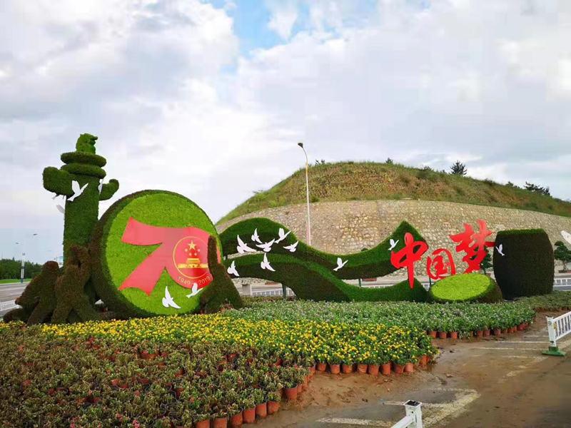 安图五色草植物绿雕生产厂家