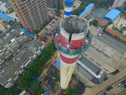 韩城烟囱拆除公司 烟囱水塔拆除