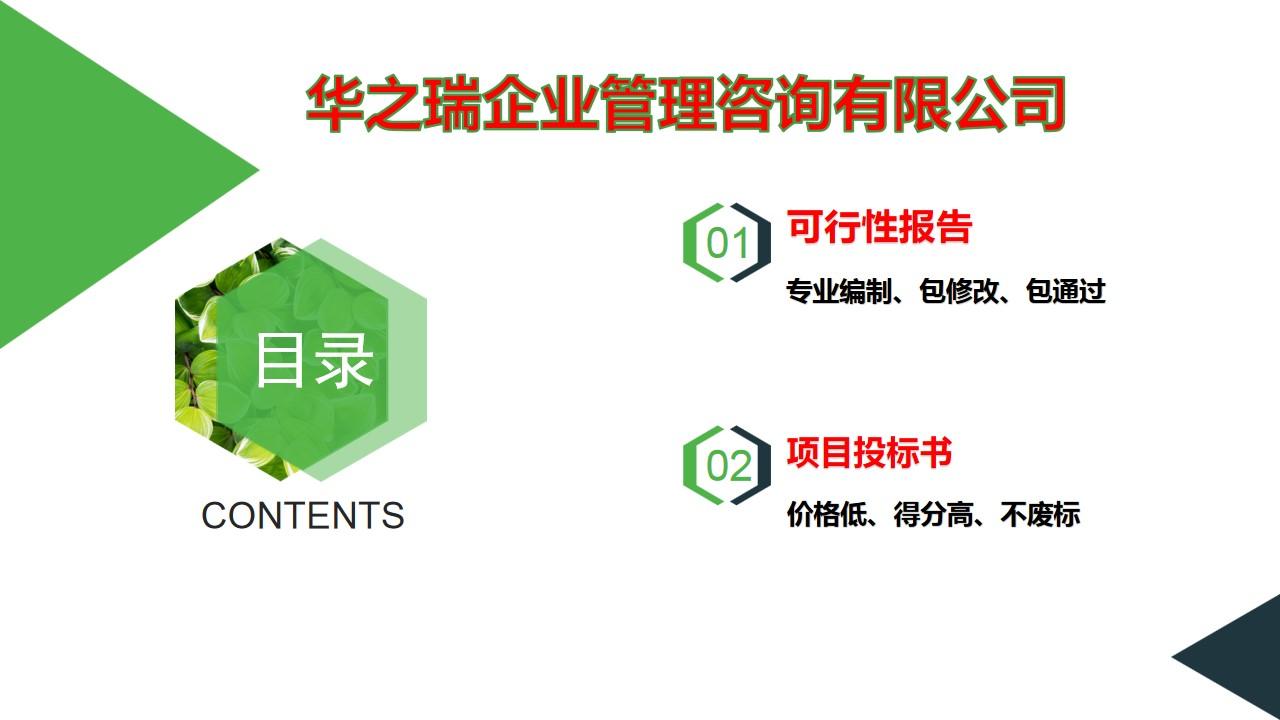 方城县承包写可行性报告各行业立项