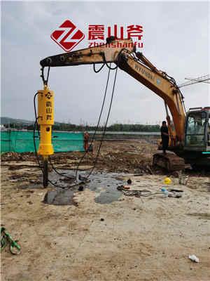 东营广饶矿山液压破石-岩石开裂机作业视频