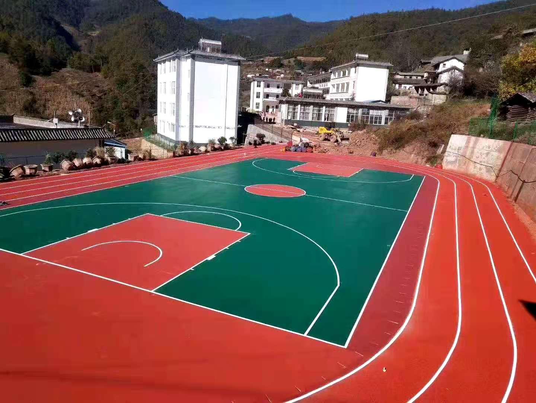 株洲弹性塑胶篮球场价格场地建设联系方式
