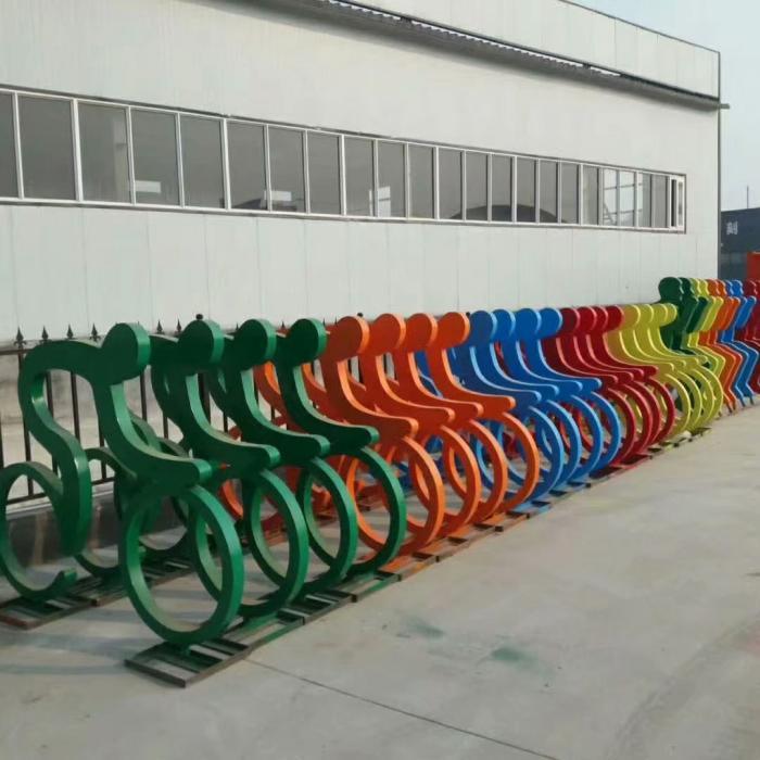 几何自行车雕塑厂家【街头雕塑】湖北室外自行车雕塑厂家
