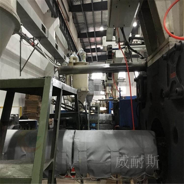 黄骅市柔性硫化机管道防火罩_解决方案(威耐斯更专业)
