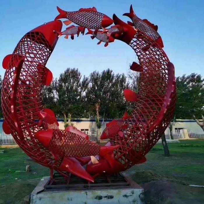 電鍍鯉魚躍龍門雕塑廠家【露天雕塑】河南景區鯉魚躍龍門雕塑廠家