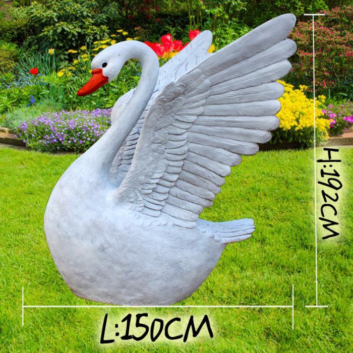 电镀天鹅雕塑厂家-软装概念-公园天鹅雕塑厂家