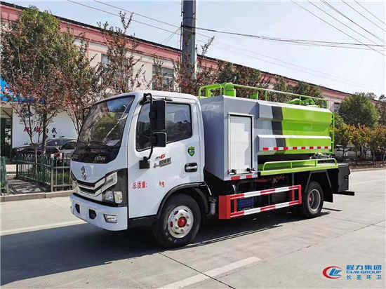 东风国六5方管道吸粪污泥净化车厂家