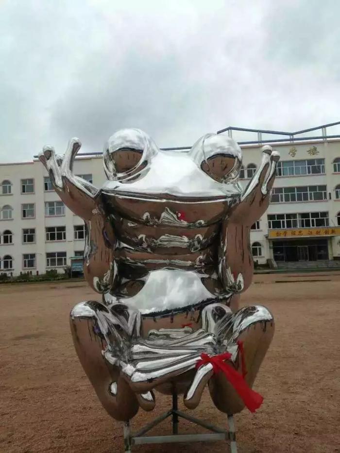 铁艺青蛙雕塑[值得信赖]重庆几何青蛙雕塑厂家