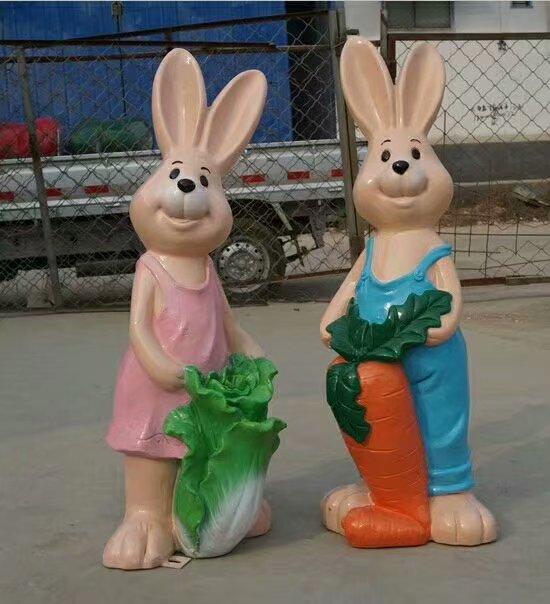 中式兔子雕塑厂家-亮化雕塑-室外兔子雕塑厂家