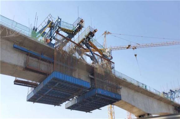 滁州市桥梁二手挂篮 高速公路桥梁挂篮租赁结构合理