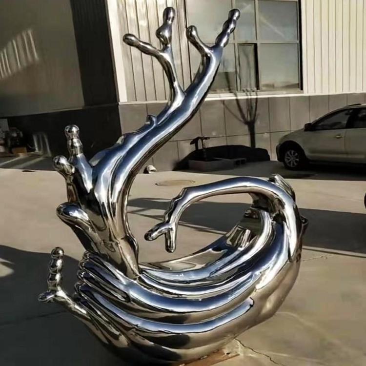 大型浪花雕塑[欢迎考察]甘肃镜面浪花雕塑厂家