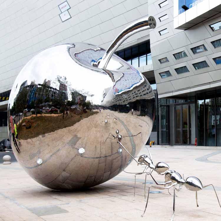 大型苹果雕塑厂家-固体苹果雕塑-铸铜苹果雕塑-黑龙江天启雕塑