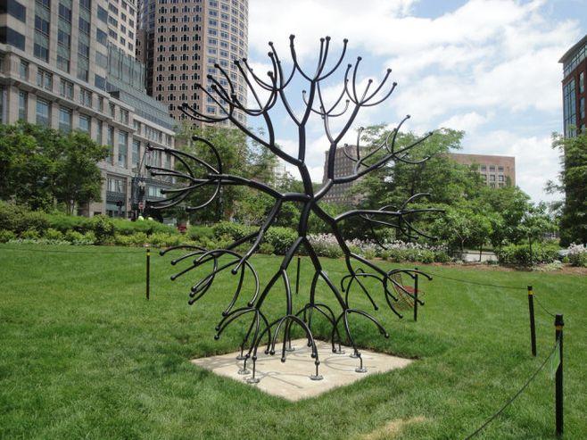 花树坐凳雕塑厂家【地产雕塑】辽宁铸铜花树雕塑厂家