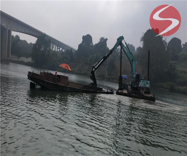 镇江市水下沟槽开挖 水下施工