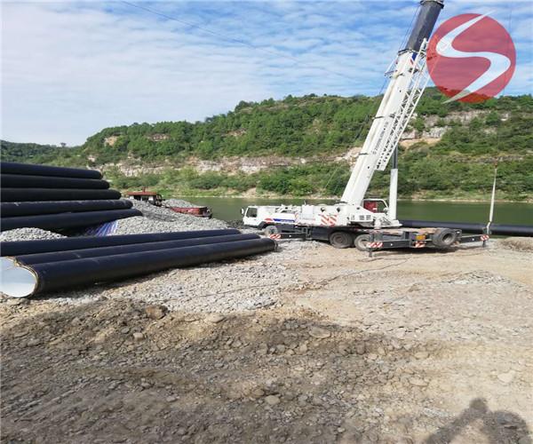 过河水下管道安装——(郴州市沉管作业