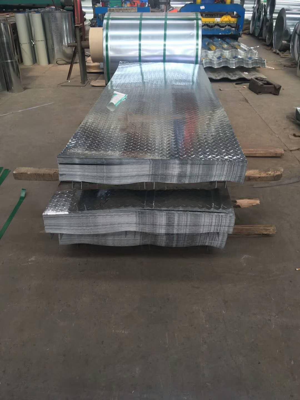 广东揭阳Q235B镀锌花纹板1.8*1500mm多少钱一吨