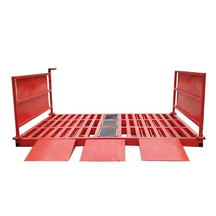 吕梁工程洗轮机红外线感应自动洗车平台洗轮机