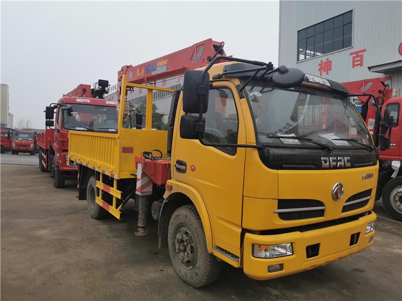 黑龙江省牡丹江市东风华神T7前四后八三一14吨随车吊新款国六车型价格参数