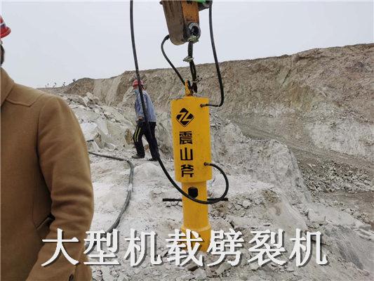 泉州鲤城液压破裂机岩石分裂机(劈裂棒)每天能出多少方
