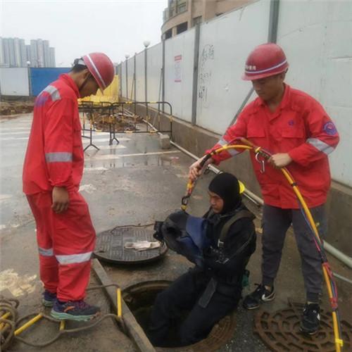 原潜水员水下安装、潜水堵漏