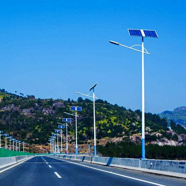 唐山太阳能路灯厂家,邢台农村路灯led6米太阳能