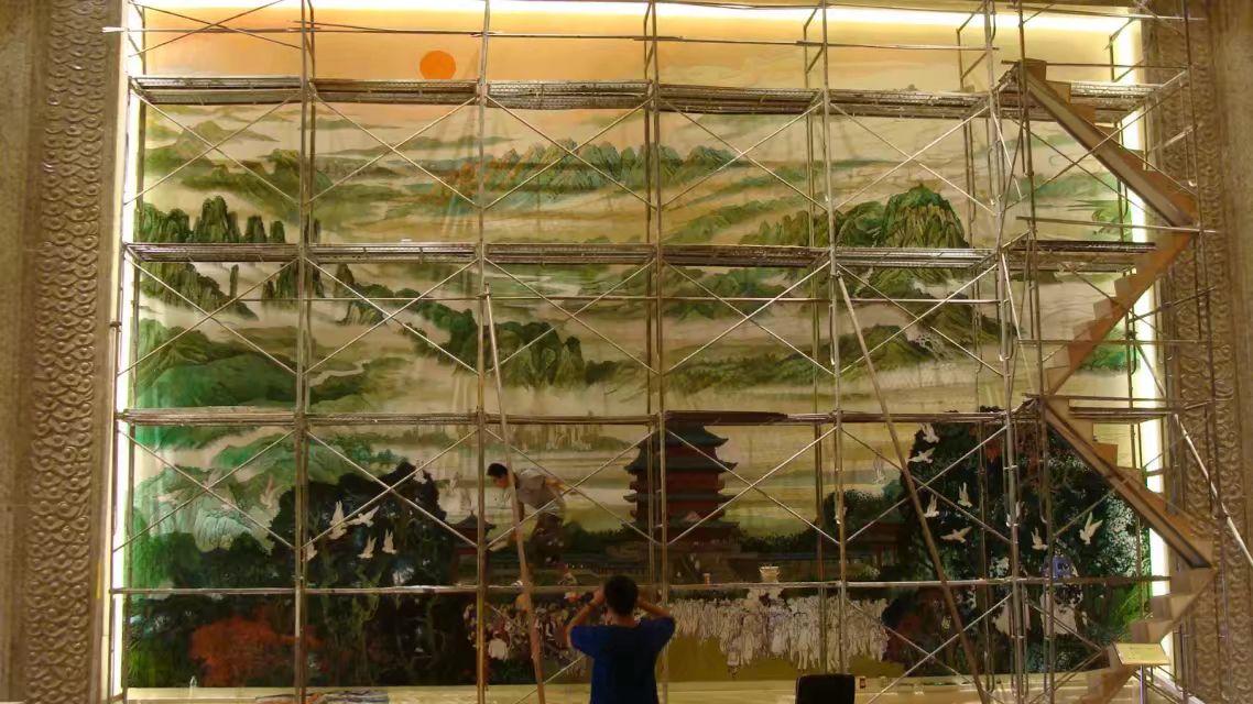 吉安万安手绘广告墙宣传墙