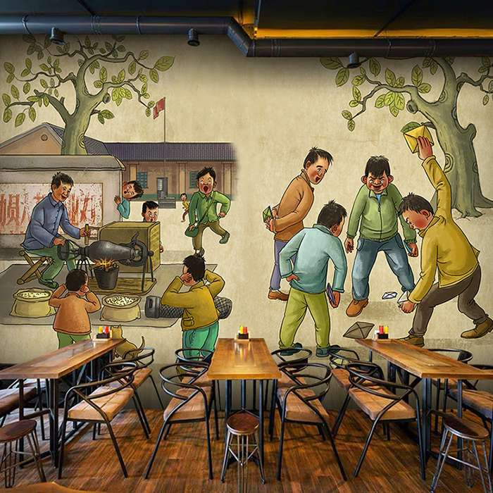 湖州市文化墙壁画作品