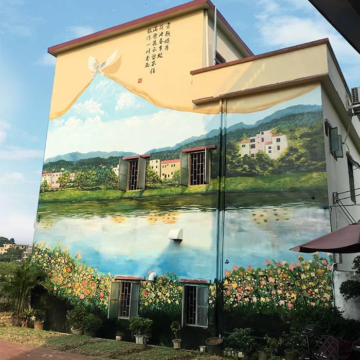 金普新区文化墙壁画设计公司