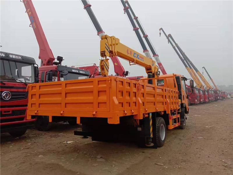 攀枝花市长兴8吨随车起重运输车图片和配置