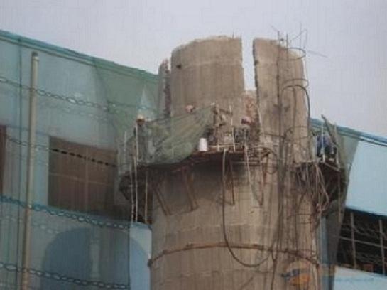广东烟囱拆除公司 专业技能 技术分享