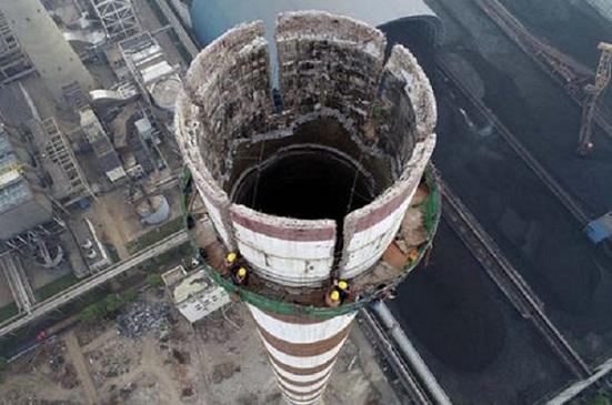 安宁烟囱拆除公司的拆除价格怎么算?