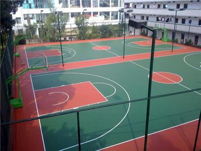 滨江塑胶篮球场施工公司