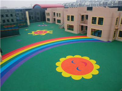 浙江塑胶地坪施工流程 人造草坪规划厂家