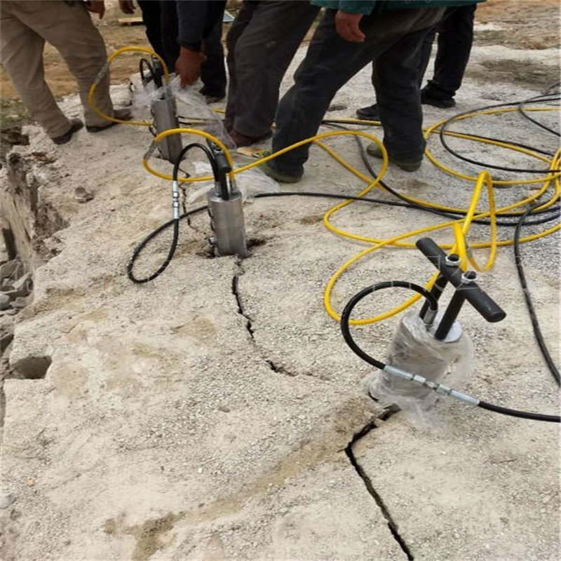 德宏液压棒电动静态隧道岩石拆除劈裂机