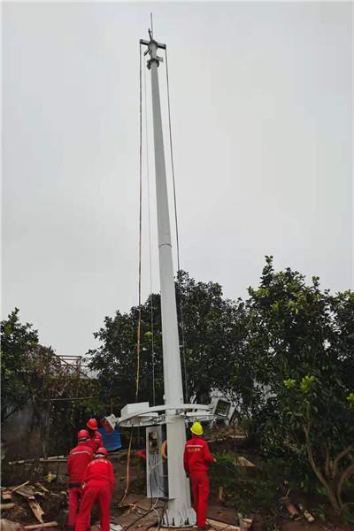 施甸室外落地防水机箱机柜  6米天网监控杆_免费上门勘测