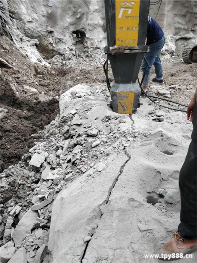宣城郎溪房产地基开挖不让放炮开石头机械日产量多少方