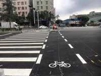 梅州市大埔县热熔公路划线施工
