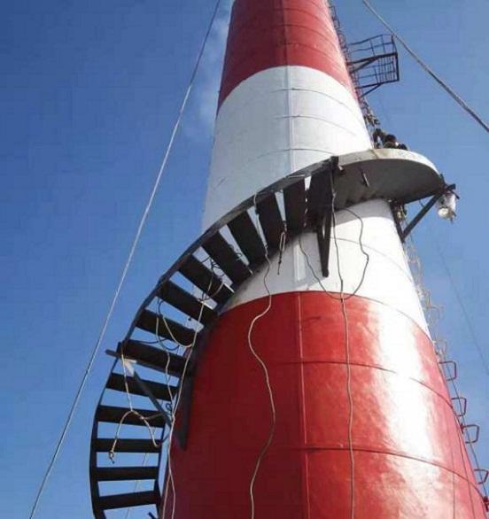 乐陵烟囱安装旋转梯-技术卓越 质优价廉