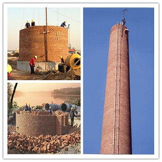 广州砖砌烟囱施工时对材料选择有什么要求?